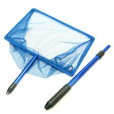 "12""x 8"" Koi AdjustableFish Net Handle 30~54cm Aluminum Fishing Pond Tank Blue"