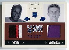 2004-05 Skybox L E LAMAR ODOM ANDREI KIRILENKO Legends of Draft Dual Patch #1/10