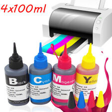 4x 100ml Color Ink Cartridge Refill Replacement Kit for HP Canon Printer  ML