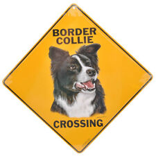 NEW Border Collie Dog Crossing Pet Road Sign
