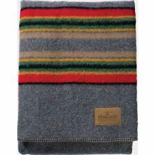 "Brand New! Pendleton Yakima Camp Twin Blanket Blue Heather Mix 84"" x 66"" Wool"