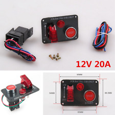 12V Racing Car Engine Start Push Button Toggle Ignition Switch Panel Universal