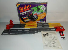Tonka TURBO TRICKSTERS DOUBLE CROSS STUNT SET! Near Complete, Penny Racer Track