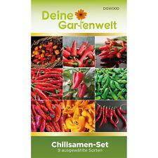 Chilisamenset 9 Sorten Samen - Saatgut für Chilis - Geschenkset