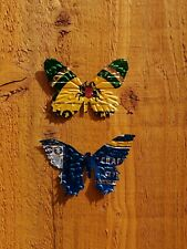 pack of 8 beer can bugs, butterflies garden decorations ornaments
