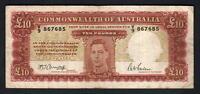 Australia R-59. (1943) 10 Pounds - Armitage/McFarlane.. George V1.. Fine+