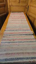 Rag Rug Vintage European Hand-Woven Carpet Rug 11 Feet x 22' #6957