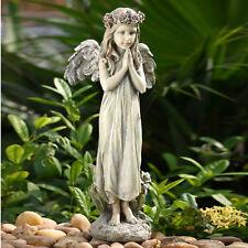 20 inch Praying Angel Flower Garden Statue Yard Art Memorial Figure Flower Crown