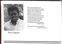 Tracy Chapman Senior High School Yearbook Fast Car