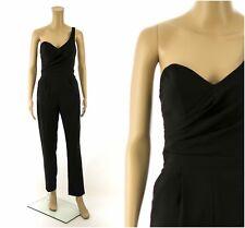 ex Asos One Shoulder Black Jumpsuit UK 6
