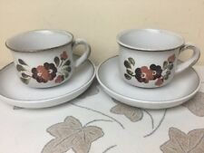 Denby Serenade 2 x Cups And Saucers Lovely Condition