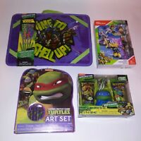 Teenage Mutant Ninja Turtles Kids Toys Art Set Bath Figurines Gift Set