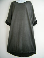 PLUS SIZE ONE SIZE LAGENLOOK 95% COTTON 3/4 RAGLAN SLV ITALIAN DRESS IN 7 COLS