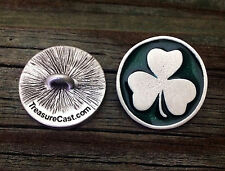 Shamrock Sewing Buttons | Three Size | Fine Pewter | Made in USA