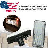 Canbus LED License Plate Lights Bulb Lamp For Toyota Cruiser Lexus LX470 1998-07