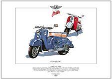ZUNDAPP BELLA - FINE ART PRINT - Upmarket German Scooter produced from 1953-1963