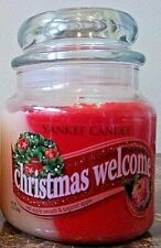 Yankee Candle  Christmas Welcome Swirls  ! Medium Jar  VHTF FREE SHIP