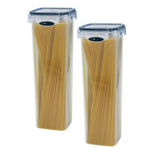 2 Pack Spaghetti Lasagna Pasta 6 Cup Tall Square Plastic Food Storage Container