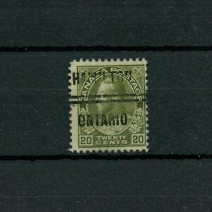 20 cent Admiral PRECANCEL HAMILTON #4-119 Cat $20 used Canada