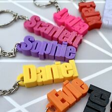 Personalised Keyring - Keychain - 3D Printed - School Bag - Name Tag- Book Bag