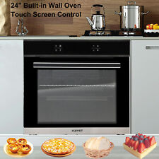"24"" Built-in Single Touch Screen Control Home Electric Wall Oven Tempered Glass"
