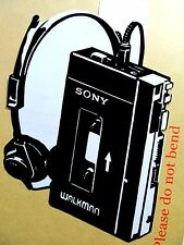 "1979 SONY WALKMAN TPS-L2 Original Pop Art, Vinyl decal Sticker 6""X 8"" inches"