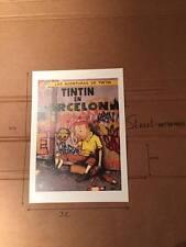 PRINT TINTIN DRAN ART 44X32  STAMPED LIMITED EDITION PARIS POP UP KAWS BANKSY