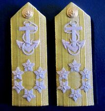 NEW US NAVY HARD SHOULDER BOARDS ADMIRAL SIX STARS UNIQUE NON ISSUED CP MADE