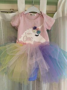 Baby First Birthday Outfit Unicorn Rainbow Tutu Dress Up
