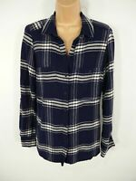 WOMENS NEXT BLUE CHECKED LONG SLEEVE BUTTON UP SHIRT BLOUSE TOP UK 6 SMALL S