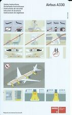 Safety Card - Swiss International Air Lines - A330 - c2003 (S4238)