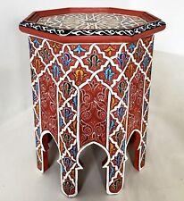 Marokkanischer handbemalter Teetisch Orientalischer Tisch Beistelltisch *SHATRA*