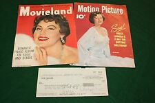 AVA GARDNER signed autographed check with vintage color magazine covers -Sinatra