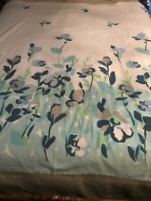 DKNY floral Shower Curtain Whitecblues Gray N Green