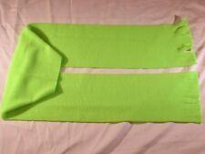 Bright Neon Green Solid Fleece Scarf