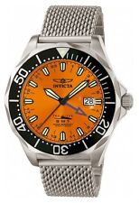 New Men's Invicta 6353 Pro Diver Swiss GMT Orange Dial Stainless Steel Watch