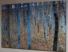 "GUSTAV KLIMT BEECH GROVE CANVAS PICTURE PRINT WALL ART ""BOX FRAME"" #A264*"