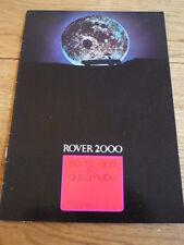 ROVER 2000  CAR BROCHURE 1970 71 jm