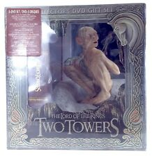 Lord Rings Two Towers Collector 5 Disks DVD Gift Set Gollum Smeagol Figure I349