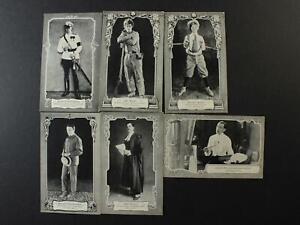 SIX ORIGINAL 1920s ACTOR MOVIE PHOTOGRAPH POSTCARDS~LYTELL~VON STROHEIM~