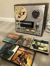 Sony TC-378 3-Head Reel to Reel Tape Deck Tested & 5 Tapes Sinatra Band  7 1/2