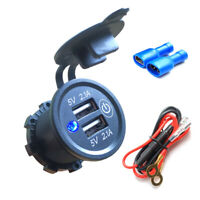12V LED Car Charger Adapter Dual USB for Car Boat RV ATV UTV With Touch Switch