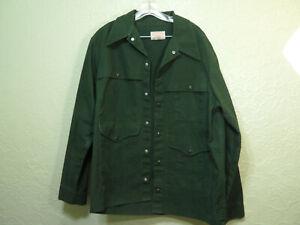 Vintage Filson Field Double Mackinaw Jacket Sz XL 44 Green Jacket Shirt Hunting