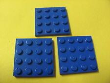 LEGO 3031 @@ Plate 4 x 4 (x3) @@ Plaque @@ BLUE @@ BLEU