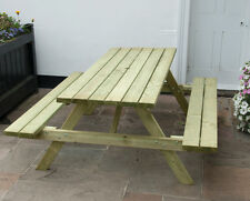 Picnic Table 6 Seater A Frame 6ft (180cm) - Wooden Bench - Pub / Garden Seating