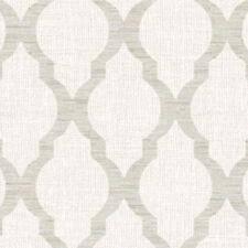 9051 - Fibra Trellis Beige Grey White Ultra Heavy Duty Vinyl Wallpaper