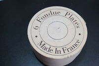 Williams Sonoma Fondue Plates Appetizer Set of 6 Made In France Varages