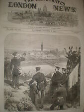 Franco Prusiano Guerra de la caída de Estrasburgo Francia 1870 impresión ref Z3