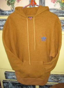 ADIDAS X ALLTIMERS mesa/blue BOILED WOOL Hoodie Sweatshirt - HTF - Size Medium