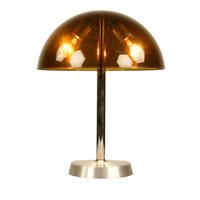 SIS Tisch Lampe Acrylglas & Alu Leuchte Modell Nr 858 Vintage 60er 70er Jahre